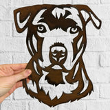 Staffordshire Bull Terrier  - Rustic Rusted Pet Garden Sculpture - Solid Steel