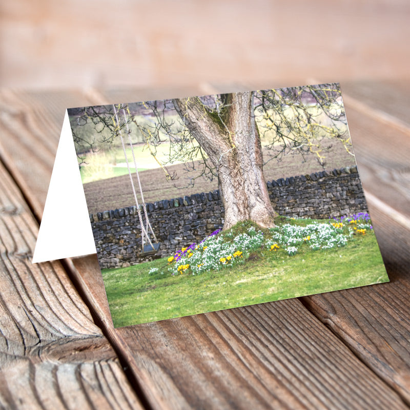 Greeting Card - Swinging Spring