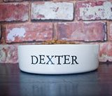 Straight Sided Personalised Pet Bowl - Stamped Design