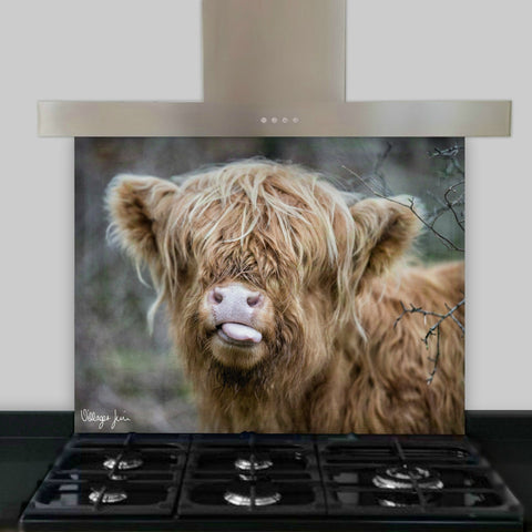 Raspberry Cow Splashback