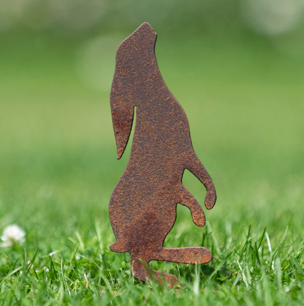 Harry the Hare - Rusty Garden Sculptures