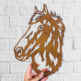 Horse 1 - Animal Sculpture - Rustic Solid Steel