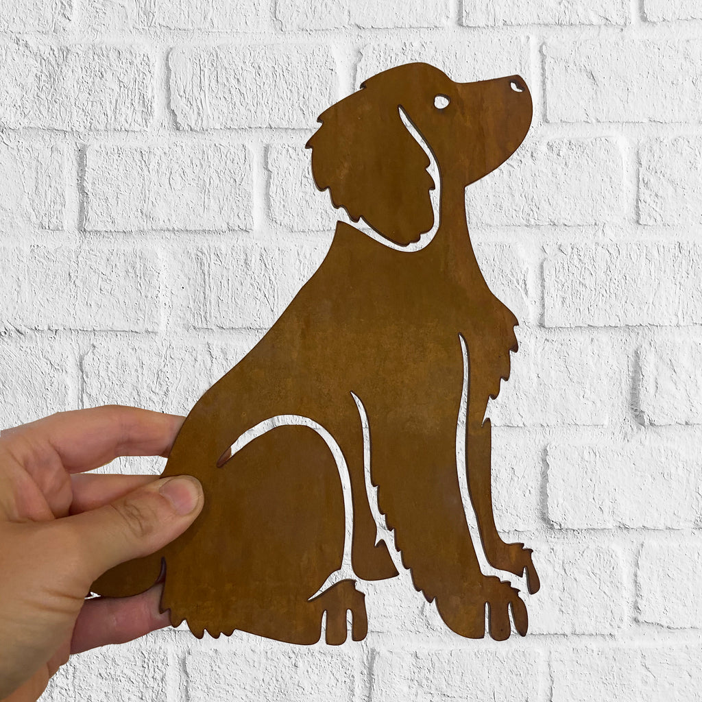 Working Cocker Spaniel (FULL BODY) Rustic Steel Sculpture