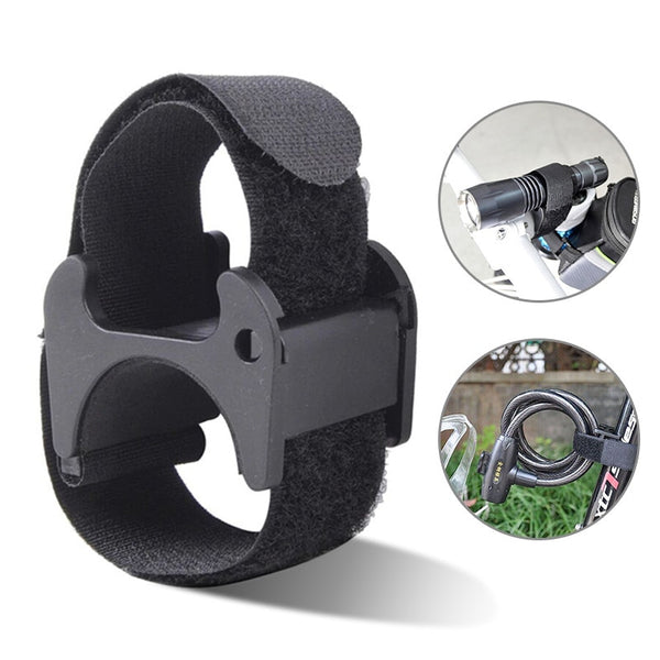 Multi-Purpose Bike Strap Flashlight LED Tourch Mount Holder Bike Lock Clamp Holder Hook&Loop Band Mountain Bicycle Accessories