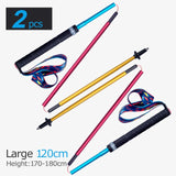 2PCS AONIJIE E4201 Lightweight Folding Collapsible Quick Lock Carbon Fiber Trekking Pole Hiking Pole Trail Running Walking Stick
