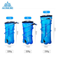 AONIJIE Sport Hydration Bladder Foldable PEVA Outdoor Water Bag For Trail Running Camping Hiking Marathon Cycling 1.5L 2L 3L