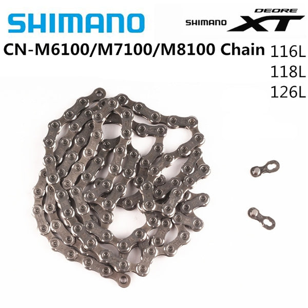 SHIMANO DEORE XT CN M8100 SLX M7100 DEORE M6100 Chain 12s Mountain Bike Bicycle Chain 116L 124L 126L Bicycle Original Shimano