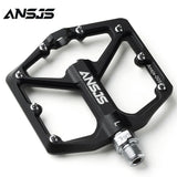 "Ansjs Sealed Bearing Mountain Bike Pedals Platform Bicycle Flat Alloy Pedals 9/16"" Pedals Non-Slip Alloy Flat Pedals"