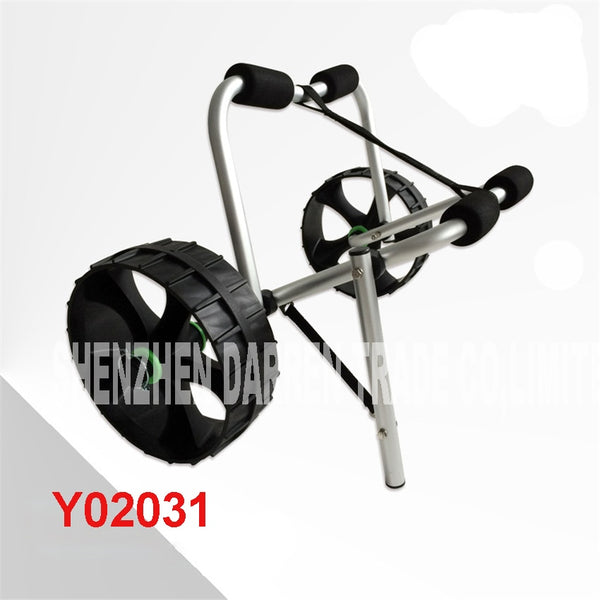 Y02031 multifunctional Folding Deluxe Aluminum canoe kayak beach trolley cart trolley kayak trailers aviation aluminum