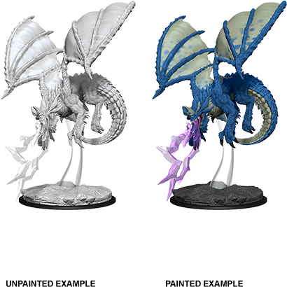 Dungeons & Dragons Nolzur's Marvelous Miniatures - Young Blue Dragon