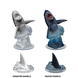 Wizkids Deep Cuts Unpainted Miniatures - Shark