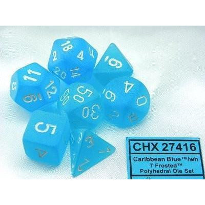Frosted Caribbean Blue w/White - 7 die set - CHX 27416