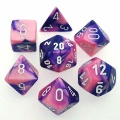 Gemini Pink-Purple w/White - 7 Die Set