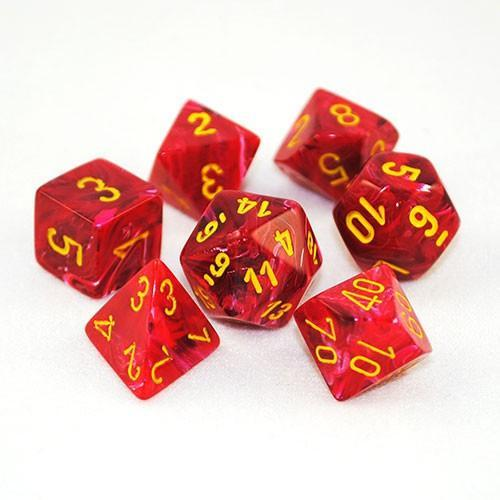 Vortex Red w/ Yellow - 7 Die Set