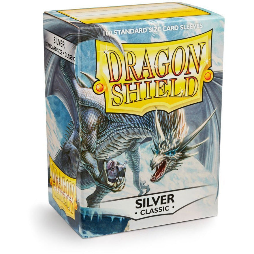 Dragon Shield Sleeves - Silver (100pk)