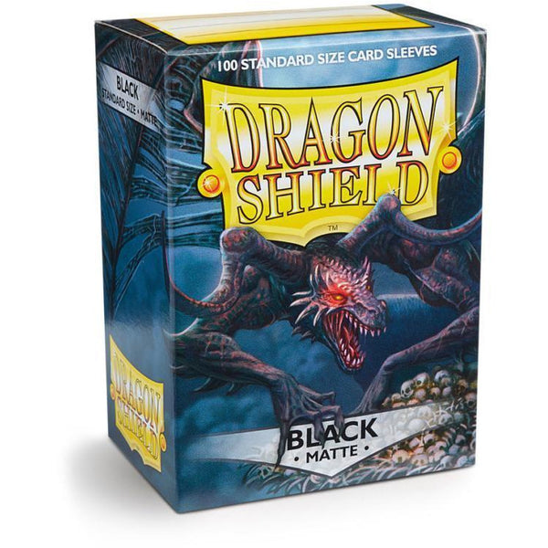 Dragon Shield Sleeves Matte - Black (100pk)