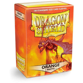 Dragon Shield Sleeves Matte - Orange (100pk)