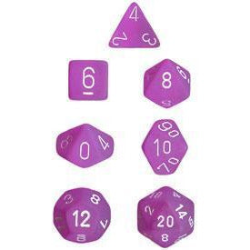 Frosted Purple w/White - 7 Die Set