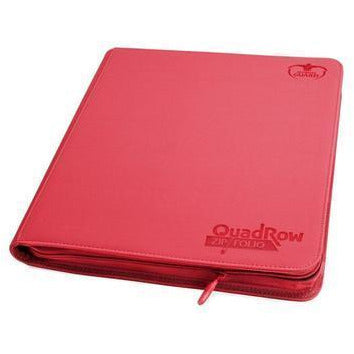 Folder Ultimate Guard 12-Pocket QuadRow ZipFolio XenoSkin Red