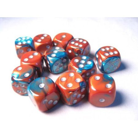 Gemini 16mm D6 Copper-Teal/Silver (12) - CHX26653