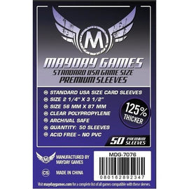 Mayday Sleeves - Premium 56mm x 87mm Standard USA Game Size Sleeves (50)