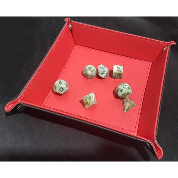 Folding Dice Tray: Red
