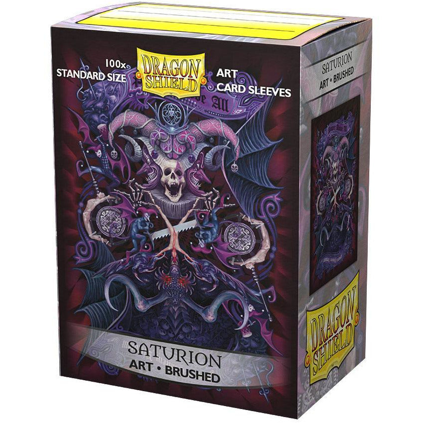 Sleeves - Dragon Shield - Box 100 Brushed ART 'Saturion Portrait'