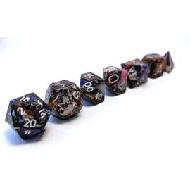 Pyrite Purple Imperial Jasper - TruStone RPG Dice Set
