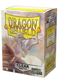 Dragon Shield Sleeves Matte Non Glare - Clear (100pk)