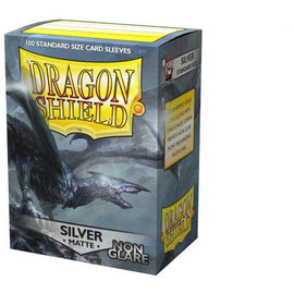 Dragon Shield Sleeves Matte Non Glare - Silver (100pk)