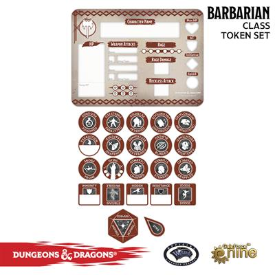 Dungeons and Dragons Barbarian Token Set