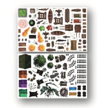 Atlas Mundi: Immersive RPG Battle Map - Dungeon Dressings Sticker Pack product-item1