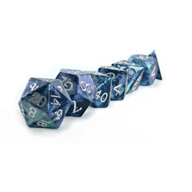 ENigma - TriColoured Aluminium RPG Dice Set