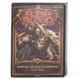 Flesh and Blood: Welcome to Rathe - Rhinar, Reckless Rampage Hero Deck