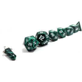 Malachite - Semi Precious Stone RPG Dice Set