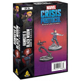 Marvel: Crisis Protocol Miniatures Game - Hawkeye and Black Widow Character Pack