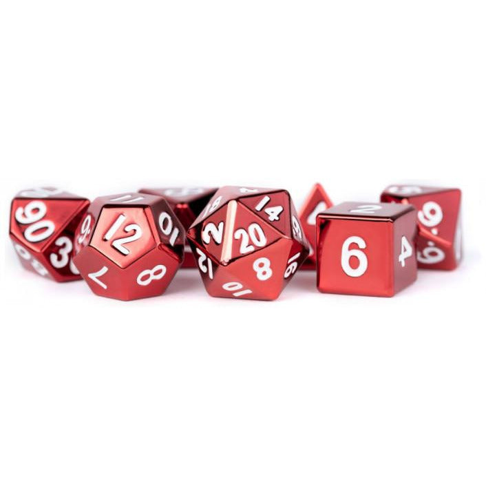 MDG - Metal Dice Set - Red Painted