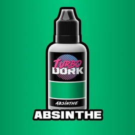Turbo Dork: Absinthe Metallic Acrylic Paint - 20ml Bottle