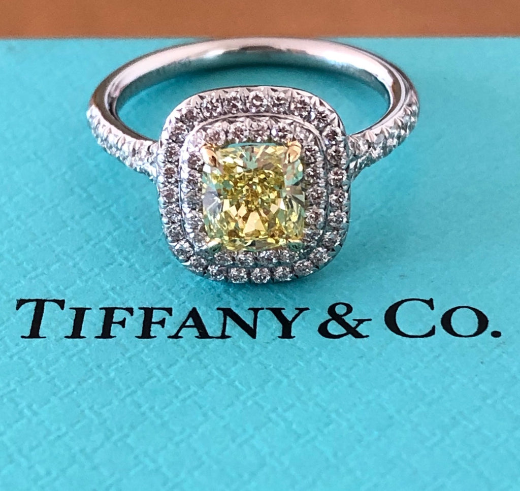 Pre-Loved Tiffany & Co. Fancy Intense Yellow Diamond Soleste Engagement Ring