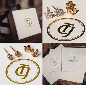 Our Hand Made CTJ 0.28tcw 'Star Bright' 18ct Gold and Diamond Earrings