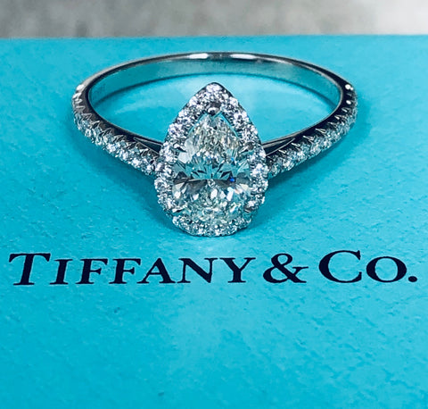 Tiffany & Co. Fancy Cut Pear Shaped Diamond Ring