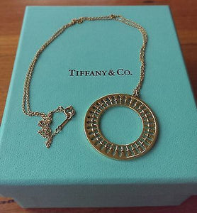 "Tiffany & Co 18ct Yellow Gold Paloma Picasso Stella Large Pendant 20"" 18ct Chain"