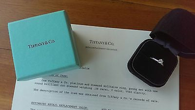 Vintage Tiffany & Co. Engagement Ring. Save off Retail with this Pre Loved Diamond Engagement Ring