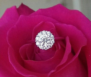 Hearts on Fire 0.91tcw Beloved Ideal Cut Diamond Halo Engagement Ring
