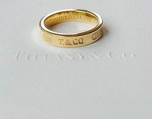 Tiffany & Co 1837 18ct Yellow Gold Ring Size 5.5 RRP $1550 with Receipt