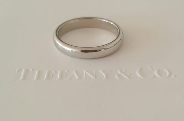 Tiffany & Co. 3mm Women's Classic Platinum Wedding Band