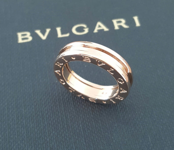 Bulgari Bvlgari BZero1 1 Band Ring in 18ct Rose Gold Ring REF: AN852422 US 5