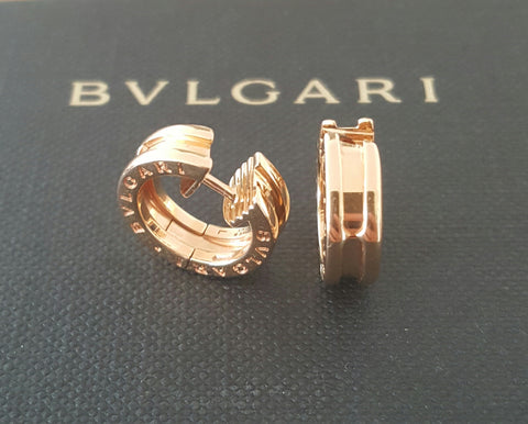Bulgari Bvlgari BZero1 18ct Rose Gold Earrings REF: OR855482 RRP $3210