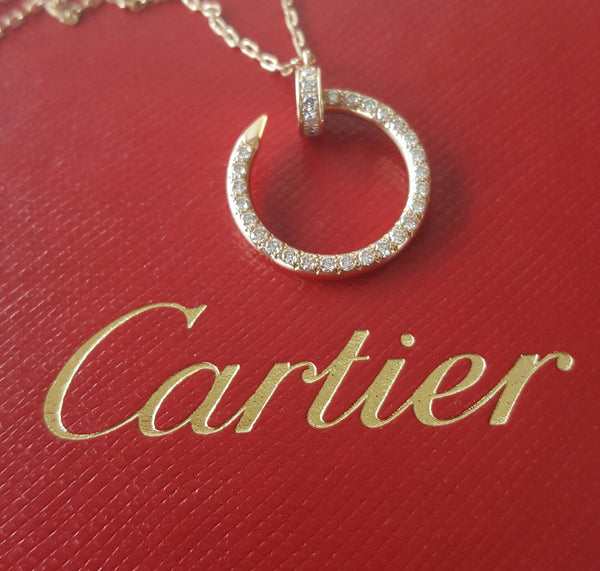 Cartier 0.39tcw Diamond and 18ct Rose Gold Juste Un Clou Necklace RRP $8850