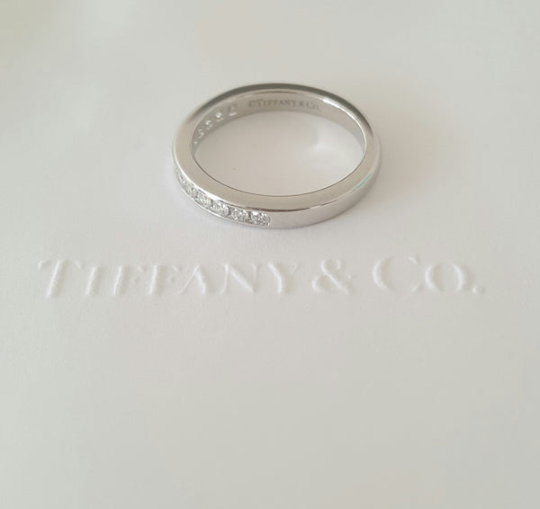 Tiffany & Co. 2.5mm Diamond Band Platinum 0.24tcw NEVER WORN size 4.5 RRP $4600